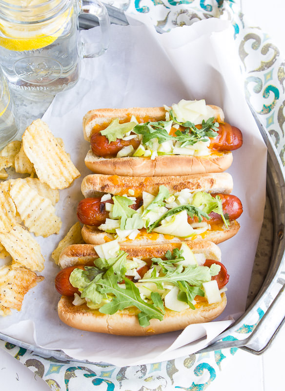 A Zesty Bite's Recipe For Apple, Fennel And Cheese Honest Dogs